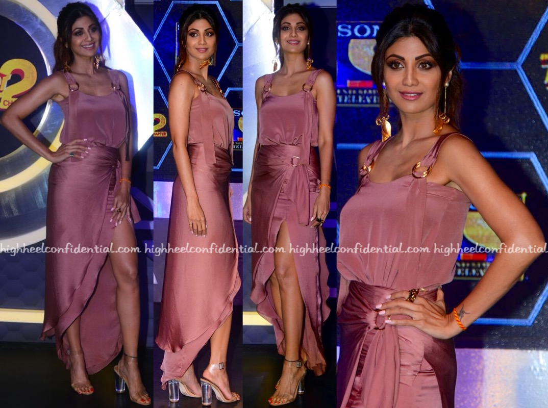 Shilpa Shetty Wears Lola By Suman B To Super Dancer 2 Press