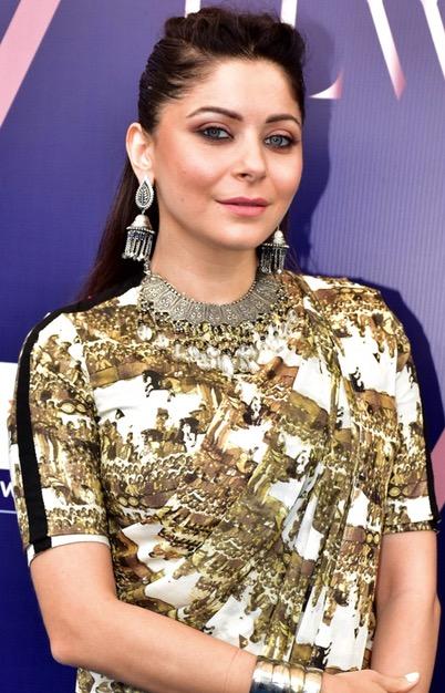 Kanika Kapoor Wears Anamika Khanna To Luxury Lifestyle Weekend 2018