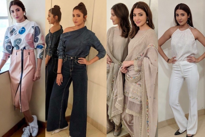 Image result for latest images of anushka sharma during sui dhaaga promotions