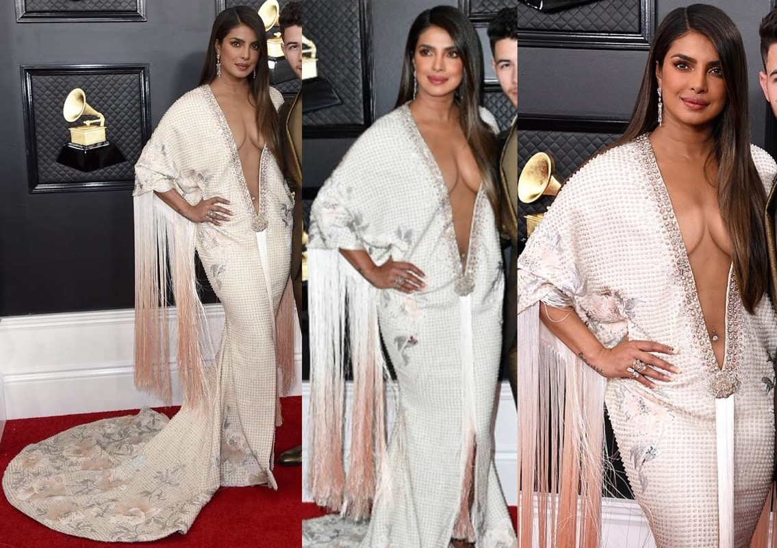 Image result for grammy priyanka fish gown