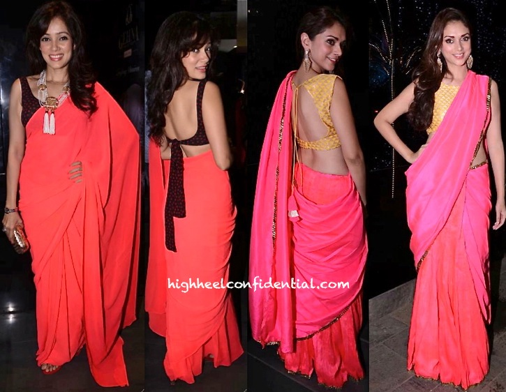 Aditi Rao Hydari (In Payal Singhal) And Vidya Malvade At Shaheen Abbas Fine Jewelry Launch-1