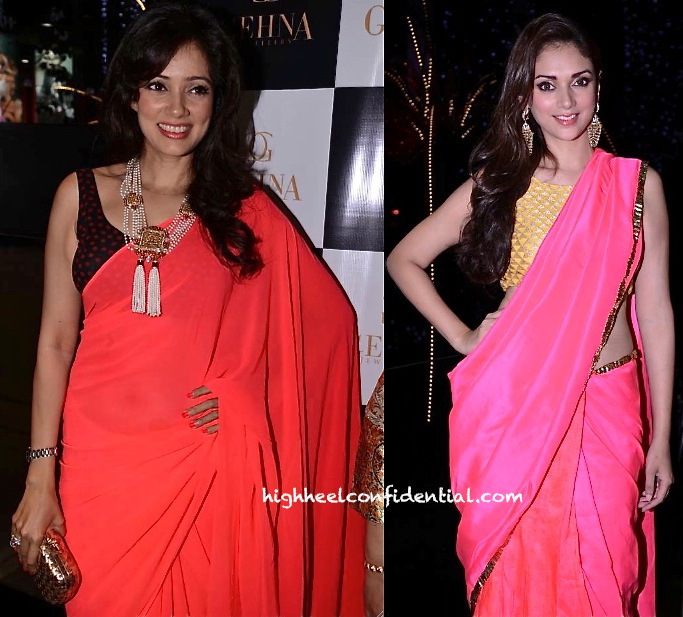 Aditi Rao Hydari (In Payal Singhal) And Vidya Malvade At Shaheen Abbas Fine Jewelry Launch-2