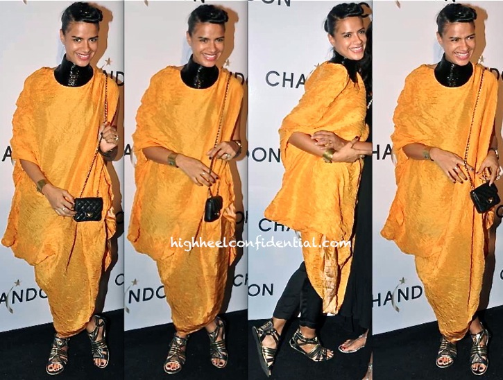 Bhavna Sharma In Anamika Khanna At Chandon Launch