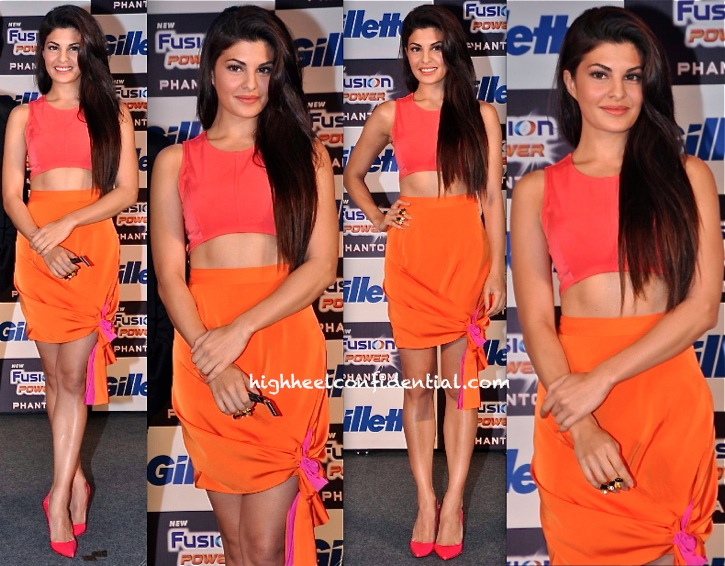 Jacqueline Fernandez In 431-88 By Shweta Kapur At Gillette Event