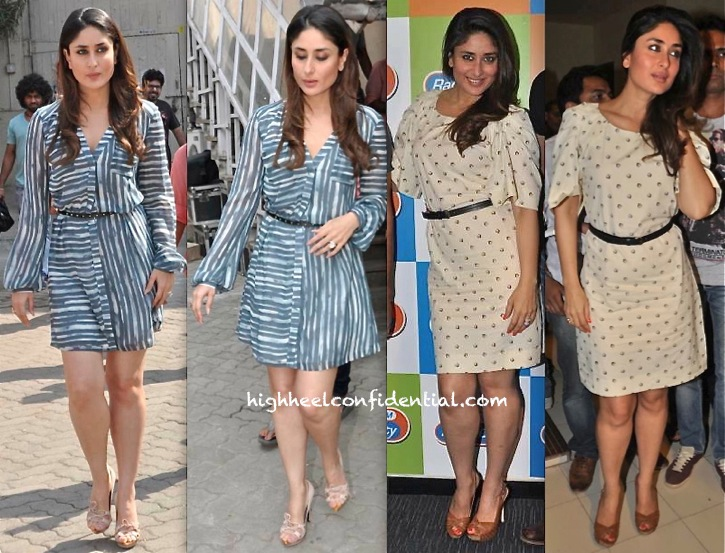 Kareena Kapoor In Shift By Nimish Shah And Rachel Roy While At 'Gori Tere Pyaar Mein' Promotions-1