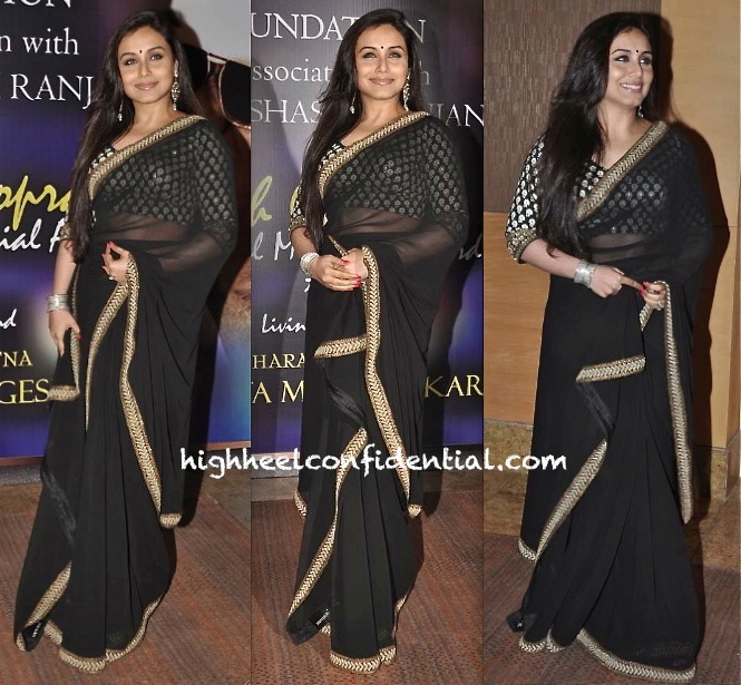 Rani Mukherjee In Sabyasachi At Yash Chopra National Memorial Awards-1