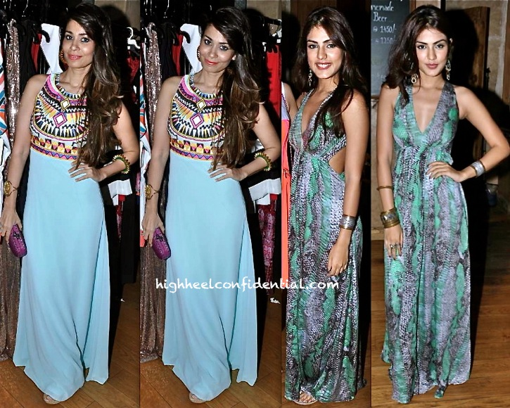 Shaheen Abbas (In Missguided) And Rhea Chakraborty (In Deme by Gabriella) At SquareKey Launch