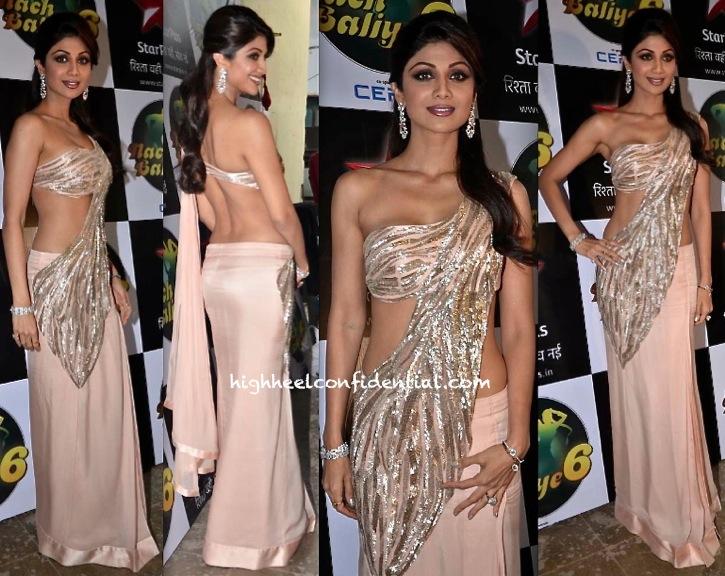 Shilpa Shetty In Gaurav Gupta On 'Nach Baliye' Sets-1
