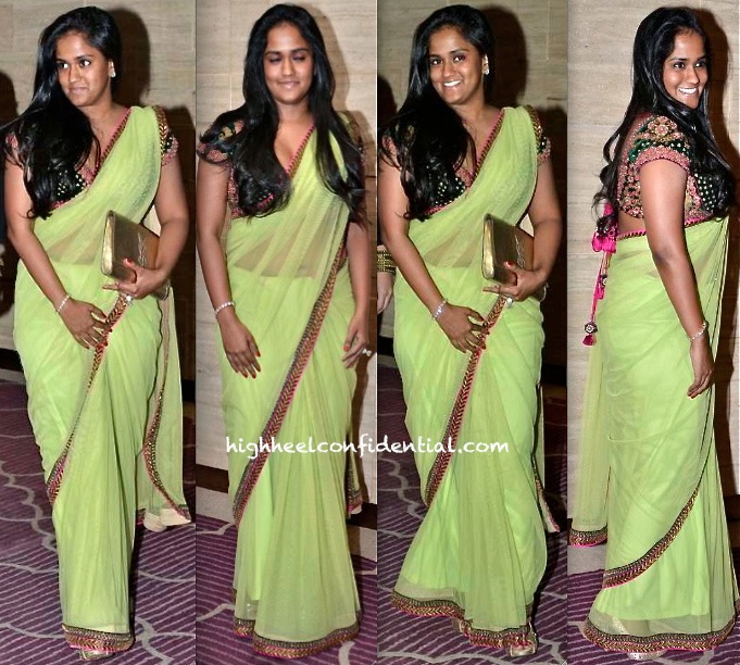 arpita khan in sabyasachi at asin birthday bash