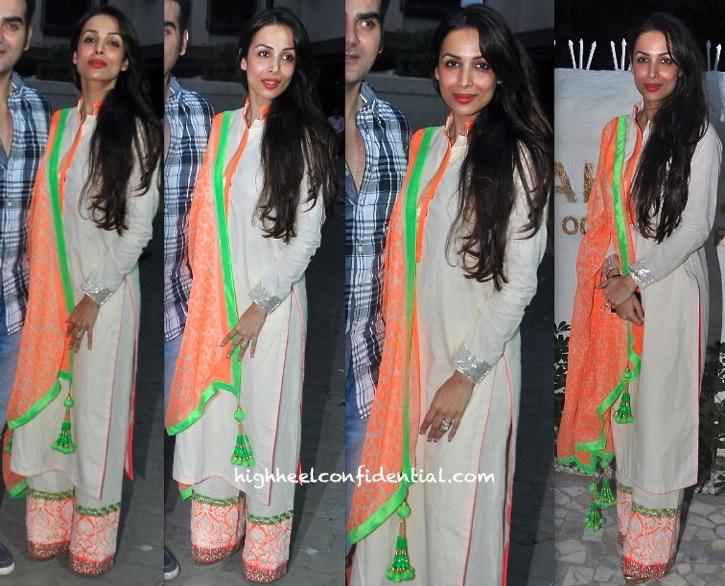 malaika arora khan at alvira khan store launch