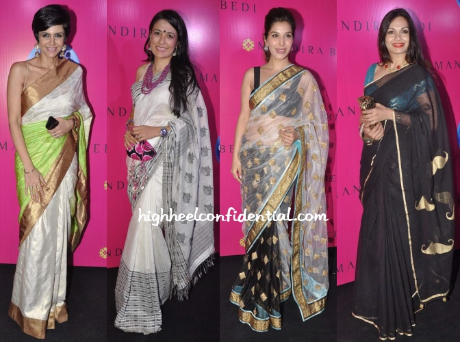 mandira-bedi-sari-launch-mini-mathur-sophie-maria