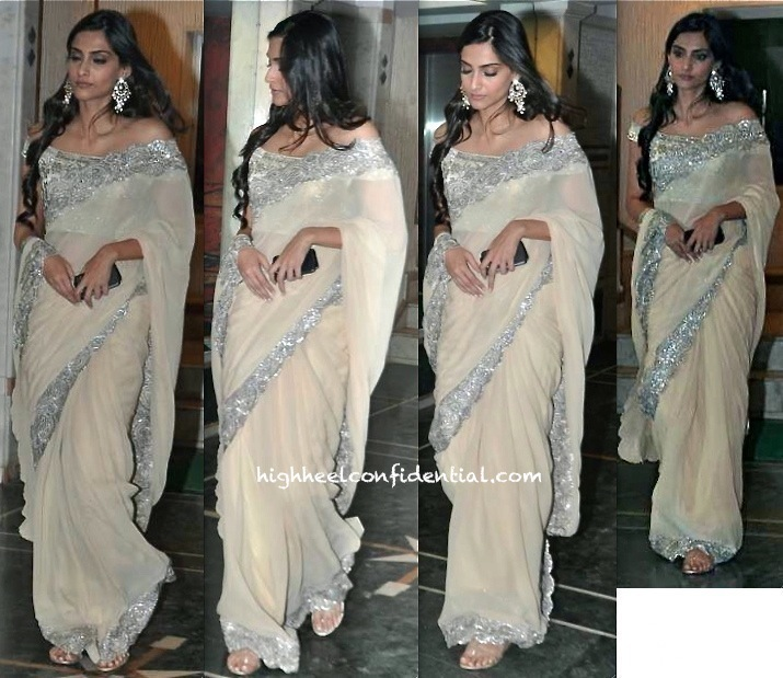 sonam kapoor in suneet verma at pammi singh diwali party
