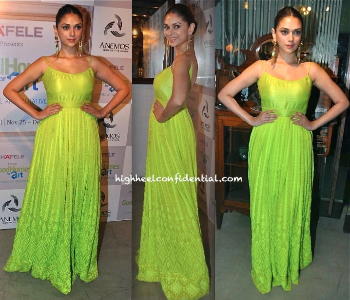 Aditi Rao Hydari In Anita Dongre At An Art Exhibition And In Nupur Kanoi At A Store Launch-1