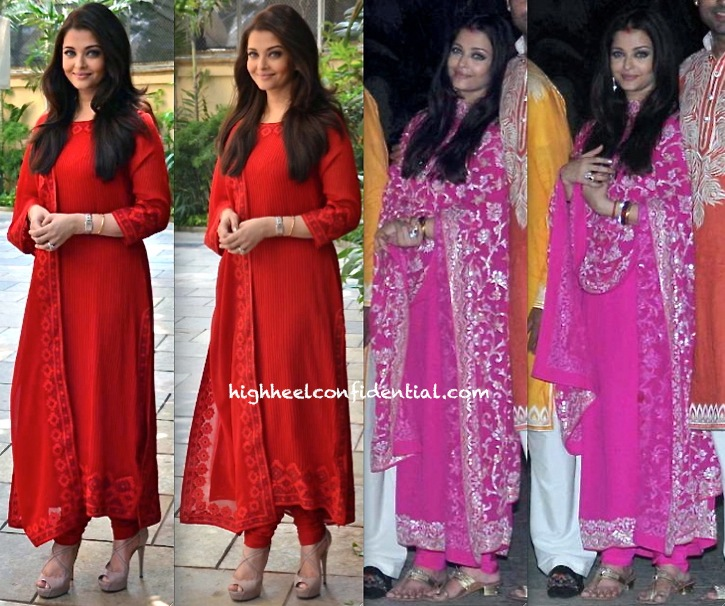 Aishwarya Rai Bachchan At Her Birthday Press Meet And At The Diwali Party Hosted By The Bachchans