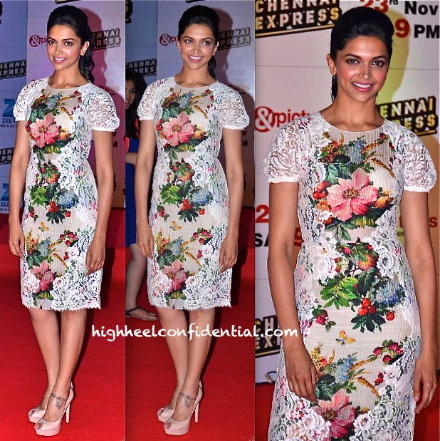 Deepika Padukone In Dolce & Gabbana At 'Chennai Express' Success Bash-1