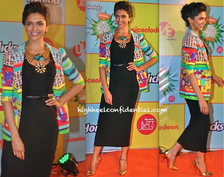 Deepika Padukone In Quirk Box At Nickelodeon India Awards 2013-2