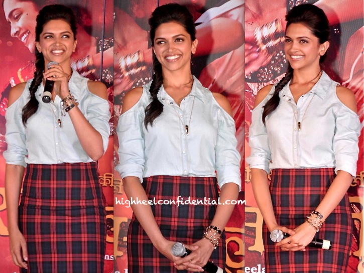 Deepika Padukone In Zara At 'Ram Leela' Promotion-2