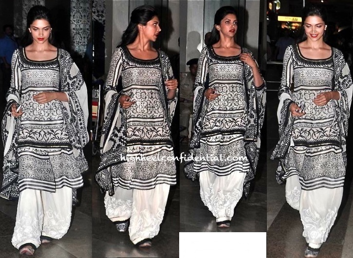 Deepika Padukone Wears Vineet Bahl While Promoting 'Ram Leela' In Jaipur-2