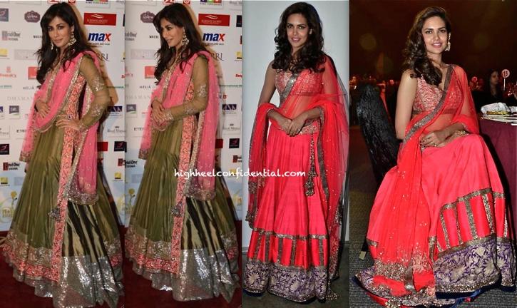 In Manish Malhotra- Chitrangda Singh And Esha Gupta At Masala Awards 2013-2