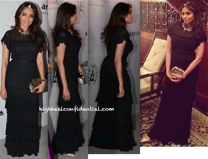 Kalyani Saha Chawla In Dior At amfAR India Gala