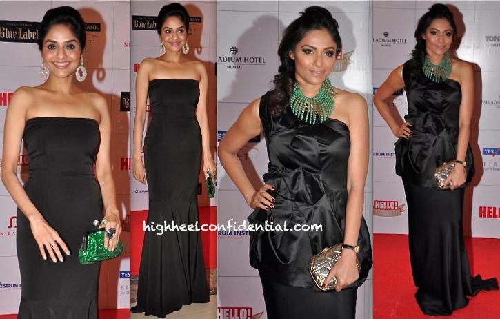 Madhoo Shah And Kalyani Saha Chawla At Hello! Hall Of Fame Awards 2013