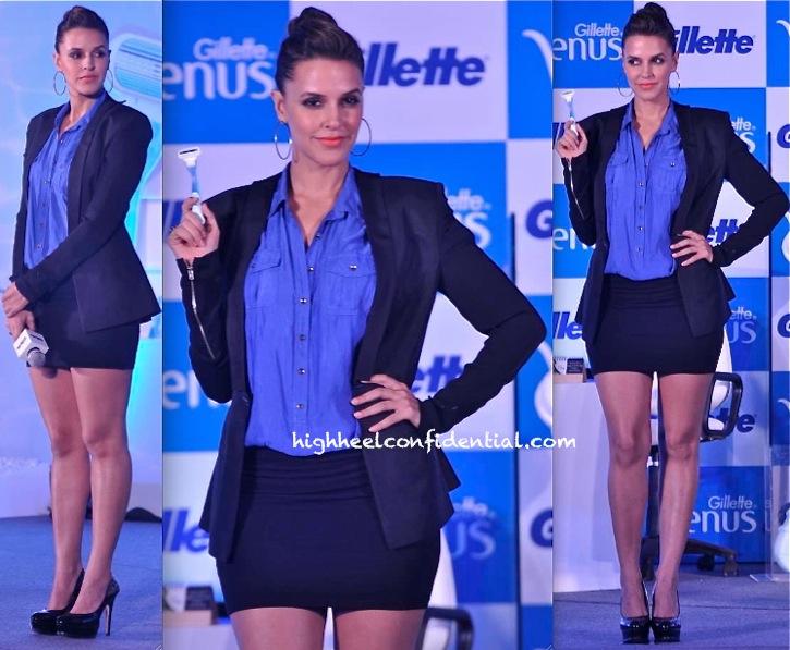 Neha Dhupia In DRVV At Gillette Event-1