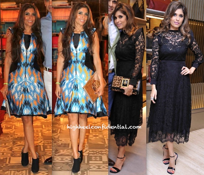 Roohi Jaikishan In Bibhu Mohapatra At 'A Small World' Relaunch At Bungalow Eight And In Gucci At The RRO and Gucci Event