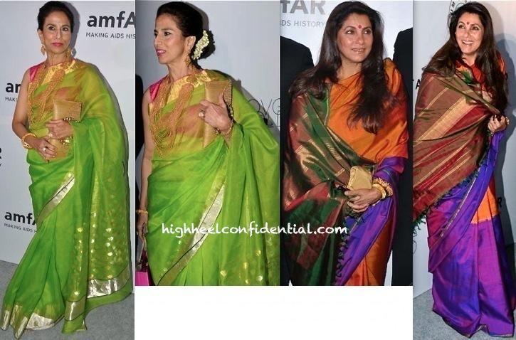 Shobhaa De And Dimple Kapadia At amfAR India Gala-2