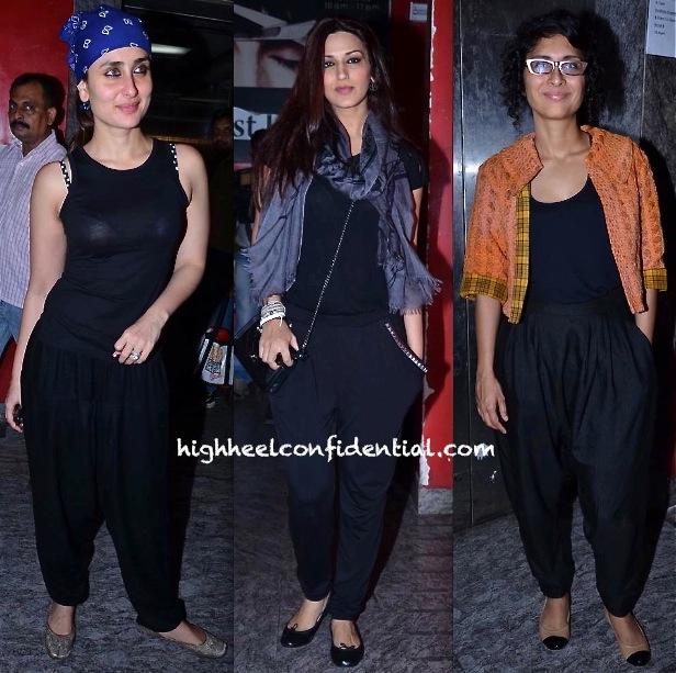 Sonali Bendre, Kiran Rao And Kareena Kapoor At 'Gori Tere Pyaar Mein' Screening-1