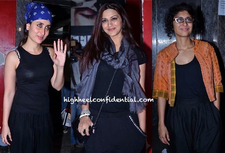 Sonali Bendre, Kiran Rao And Kareena Kapoor At 'Gori Tere Pyaar Mein' Screening-2