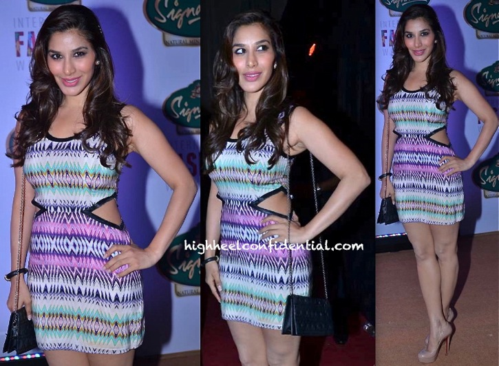 Sophie Choudry In Parker At Signature International Fashion Weekend 2013