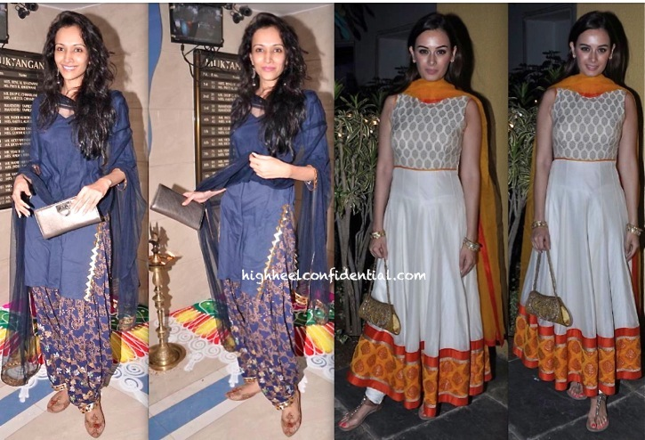 dipannita sharma and evelyn sharma at diwali 2013 party