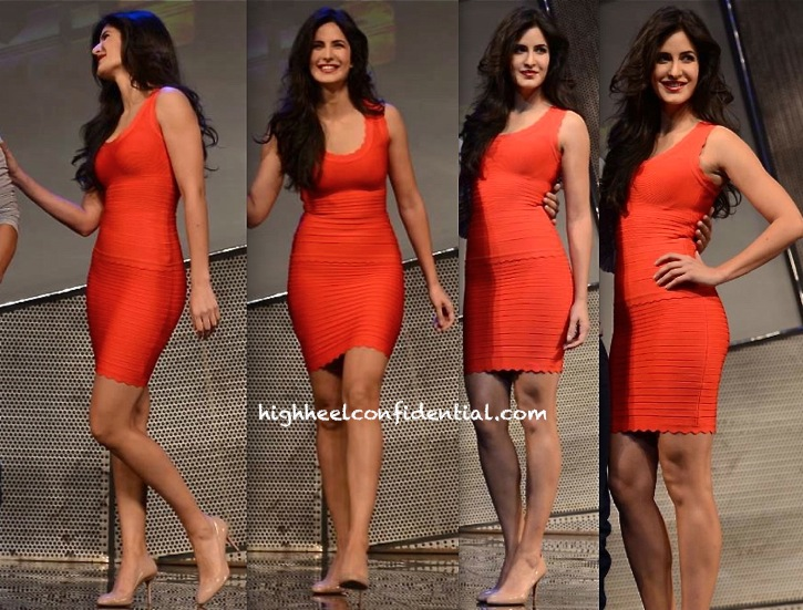 katrina kaif at Dhoom 3 merchandise launch-herve leger-1