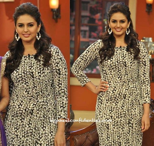Huma Qureshi on comedy nights with kapil for dedh ishqiya promotions-2