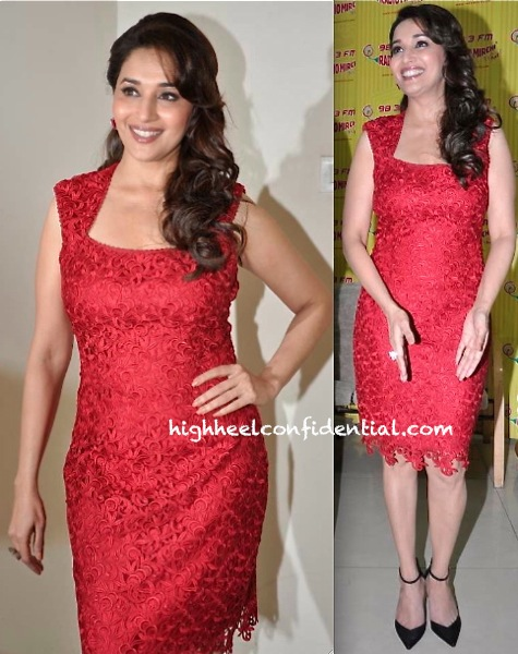 Madhuri Dixit At Dedh Ishqiya Promotions In Laundry by Shelli Segal-1