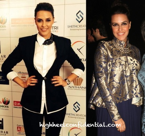 Neha Dhupia In DRVV (Times Property Expo Event) And Shantanu And Nikhil (At The Bacardi Event)-2