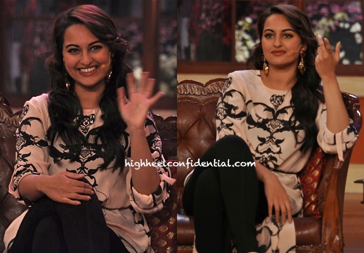 Sonakshi Sinha In Payal Singhal On Sets Of Comedy Nights For R...Rajkumar Promotions-2