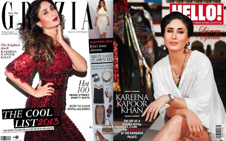 kareena kapoor on grazia and hello-decenber 2013-dolce and gabbana-alice olivia