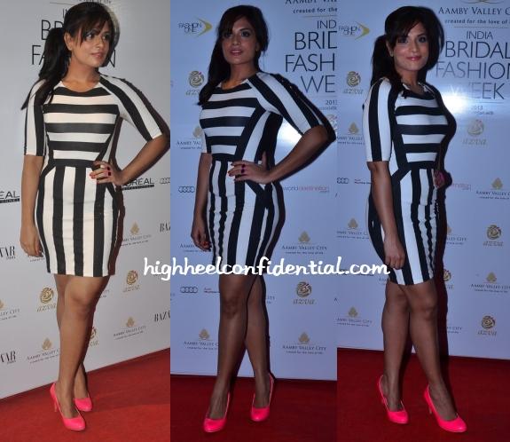 richa-chadda-bridal-week-striped-dress