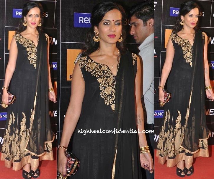 Anoushka Shankar At Global Indian Music Awards 2014