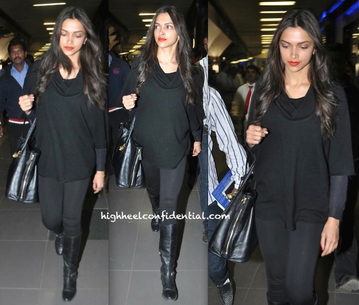 Deepika Padukone Photographed At The Airport Returning from NYC