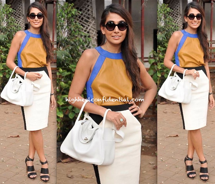 Monica Dogra (@Shaair) In Hermès At The Mid-Day Race