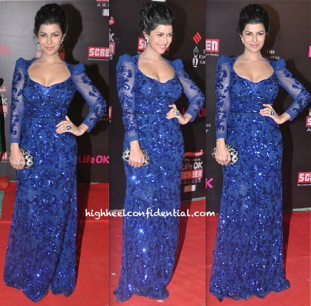Nimrat Kaur In Amit GT At Screen Awards 2014-1