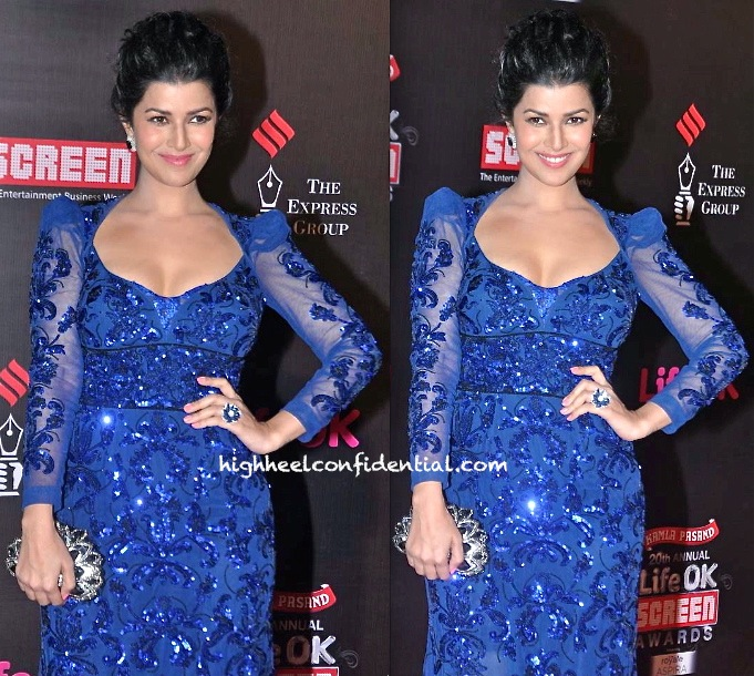 Nimrat Kaur In Amit GT At Screen Awards 2014-2