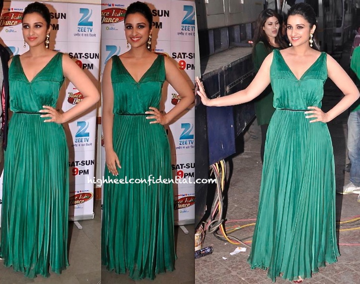 Parineeti Chopra In Halston Heritage On DID Sets For Hasee Toh Phasee Promotions-2