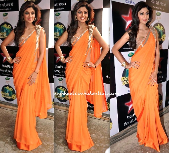 Shilpa Shetty In Gaurav Gupta On Nach Baliye Sets-1