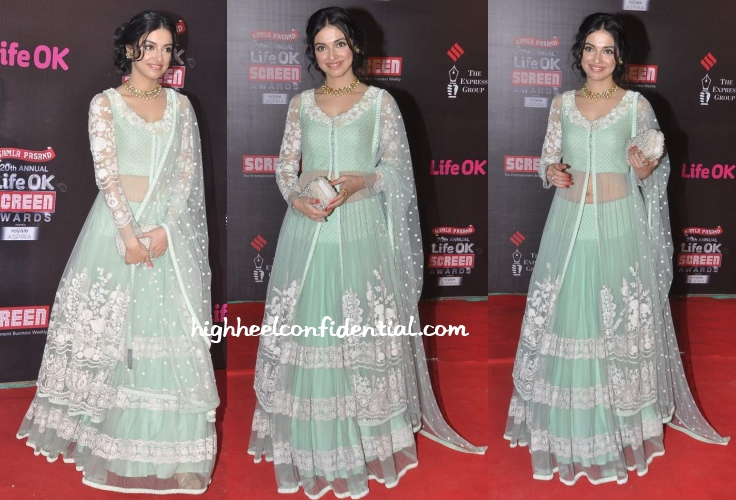 divya-khosla-kumar-sabyasachi-screen-awards-2014