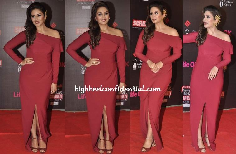 huma-qureshi-nikhil-thampi-life-ok-screen-awards-2014