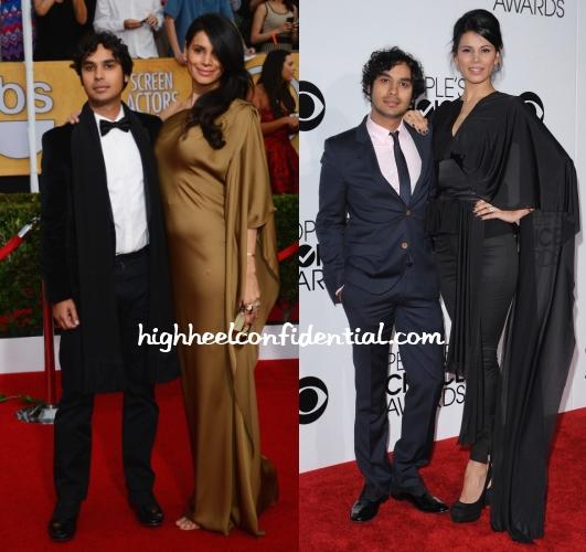 kunal-nayyar-neha-kapur-sag-peoples-choice-awards-2014