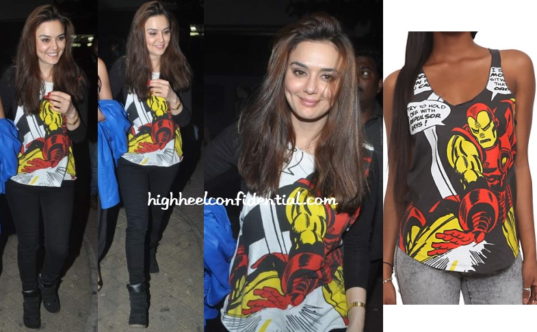 preity-zinta-jai-ho-screening-iron-man-tee
